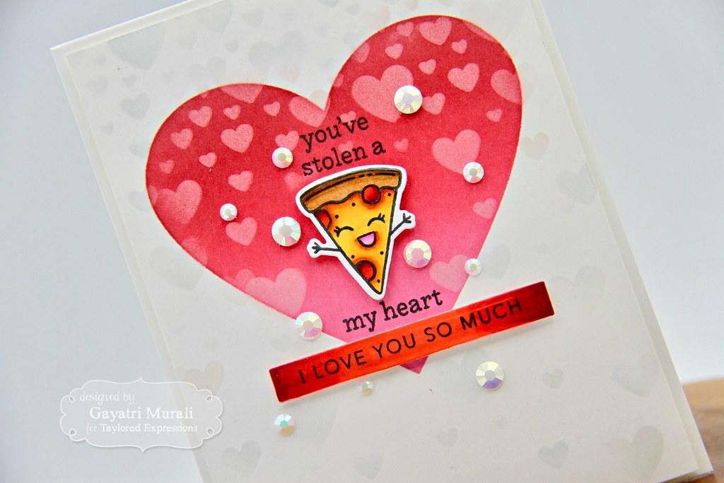 You've stolen a pizza my heart card #2 closeup