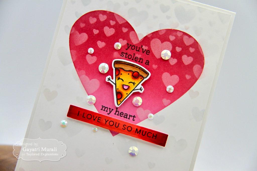 You've stolen a pizza my heart card #2 closeup1