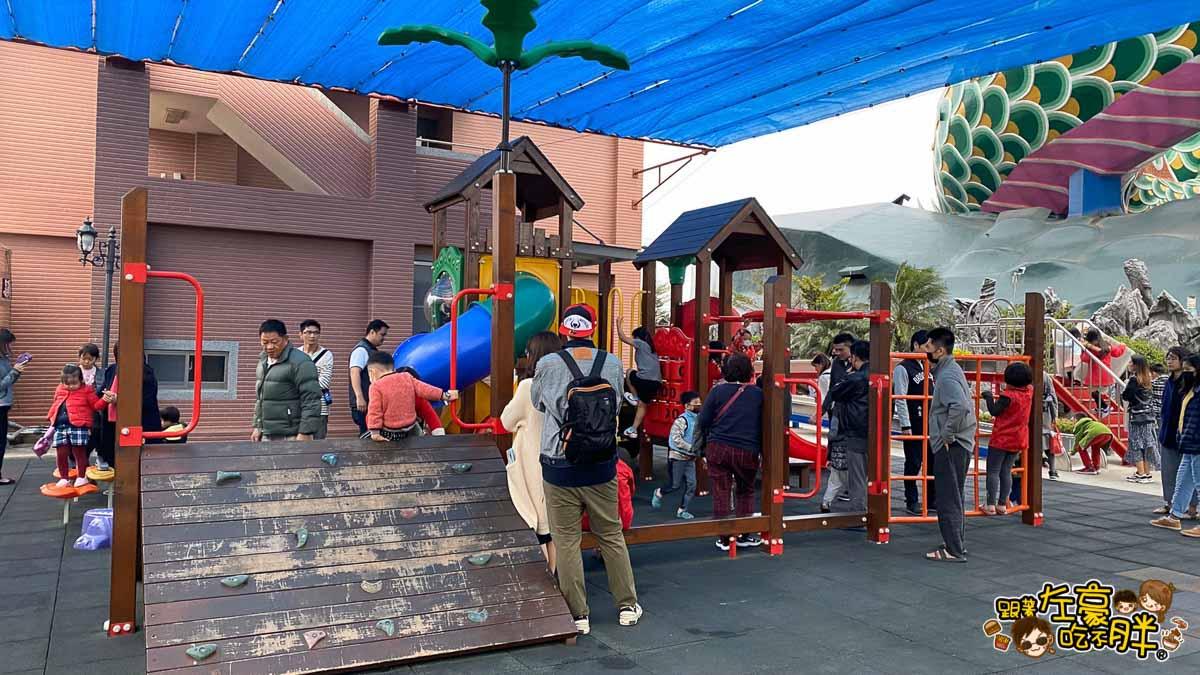 台南旅遊 台南代天府十八層地獄溜滑梯沙坑-72