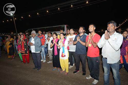 Devotees in bliss after Satguru's Darshan