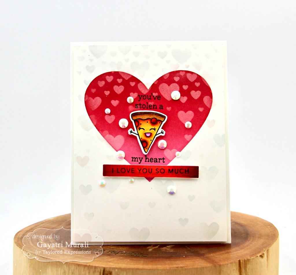 You've stolen a pizza my heart card #2a