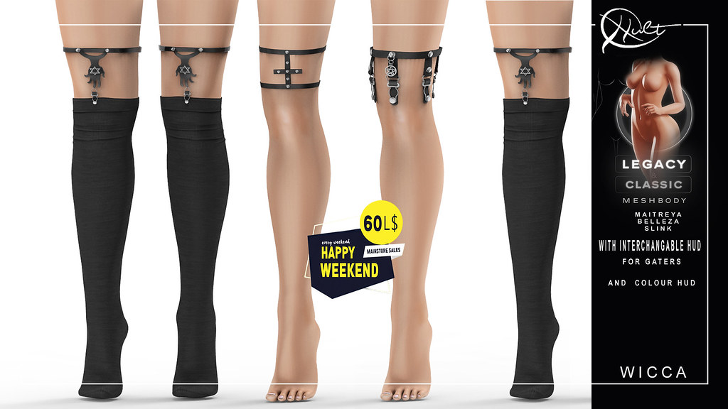 : CULT : Wicca Socks & Garters with HUD