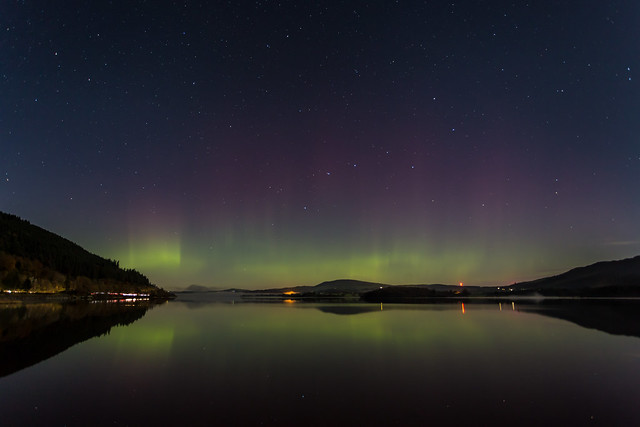 Northern Lights over Bassenthwaite Lake