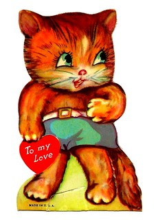 Vintage Child's Valentine Card - To My Love, Made In USA, Circa 1950s