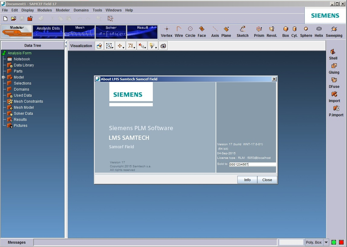 Working with Siemens LMS Samcef Field 17.0.01 x64 full license