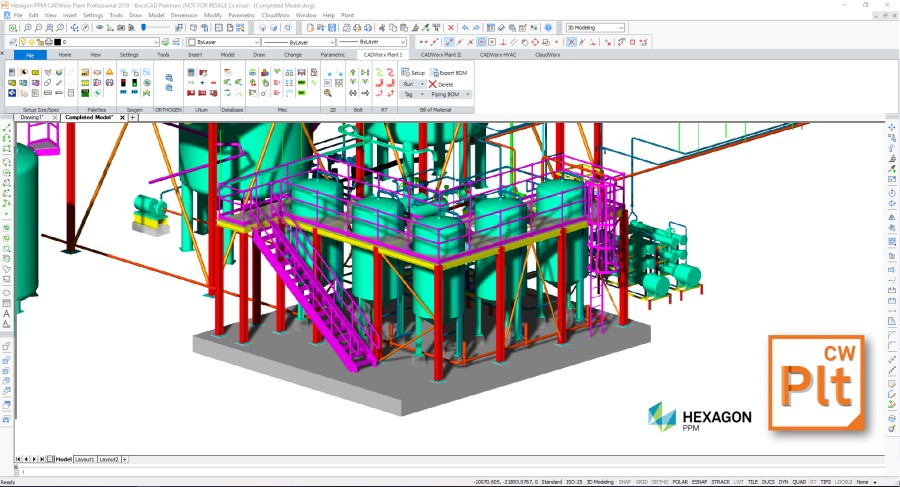 Working with Hexagon PPM Coade CADWorx 2019 full license
