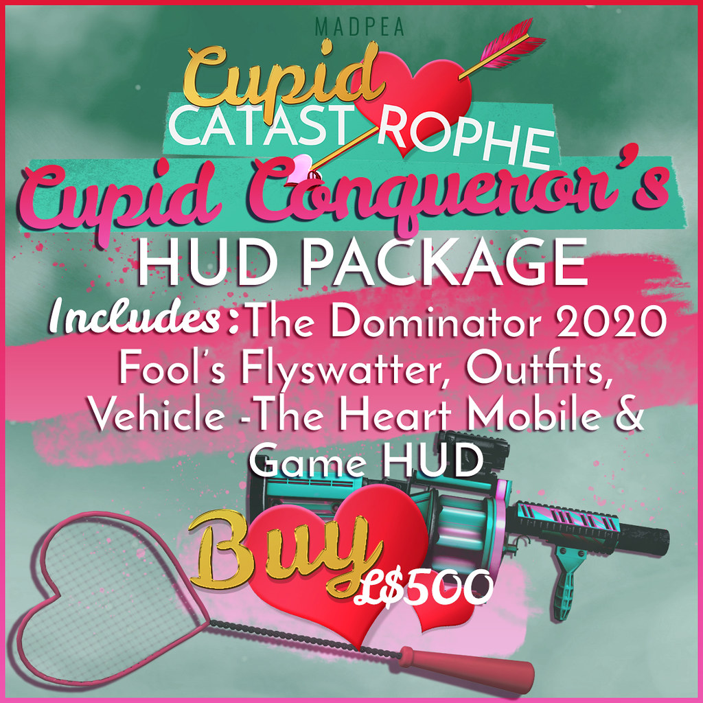 MadPea's Cupid Catastrophe: Cupid Conqueror's HUD Package!