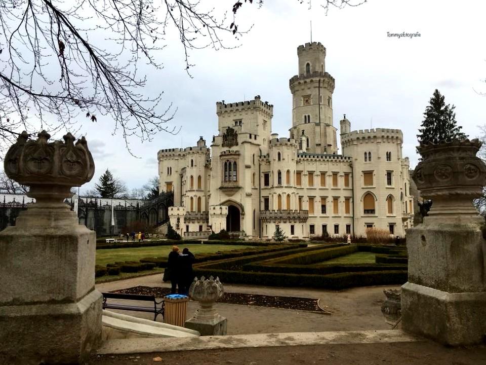 Castle Hluboká nad Vltavou in the Czech Republic