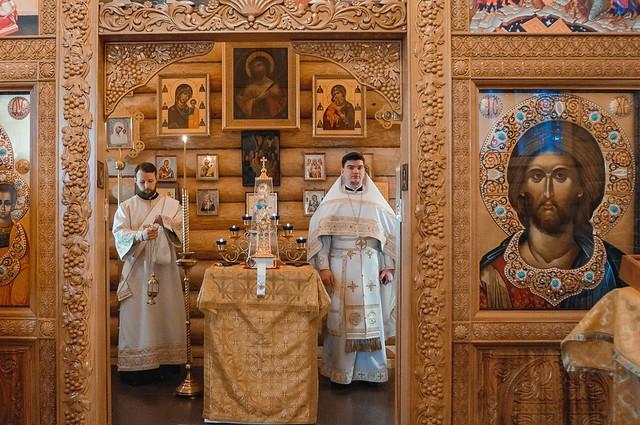 1 февраля 2020 г. Литургия в Лазаревском храме г. Всеволожска
