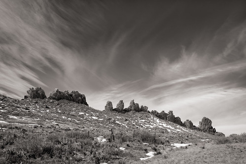 barren rockformations landscape monochrome sky us colorado grassland devilsbackbonenaturalarea landscapes places international bw loveland unitedstatesofamerica