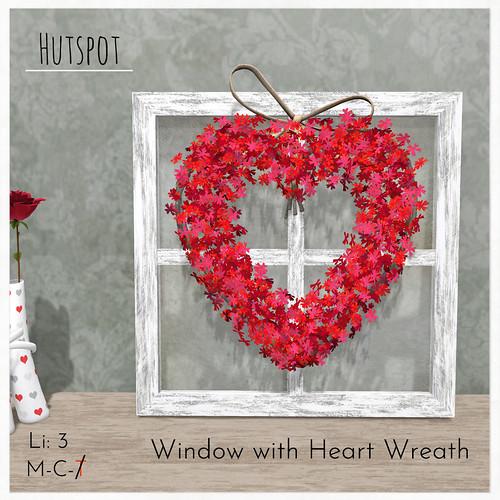 Window with Heart Wreath