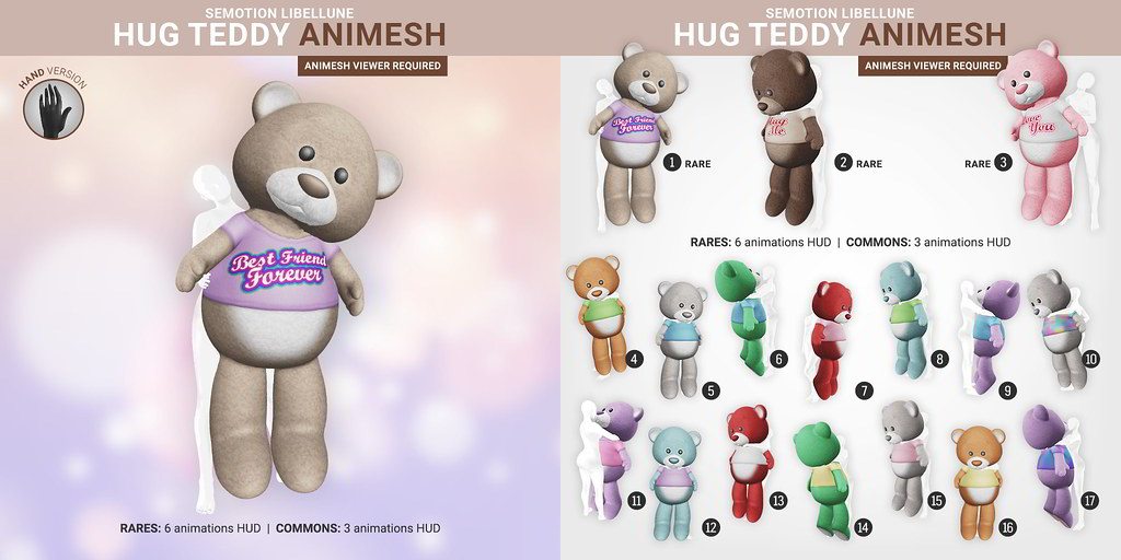 SEmotion Libellune Hug Teddy Bear Animesh