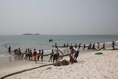 Sierra Leone - Freetown penisula, Tokeh beach, fishermen