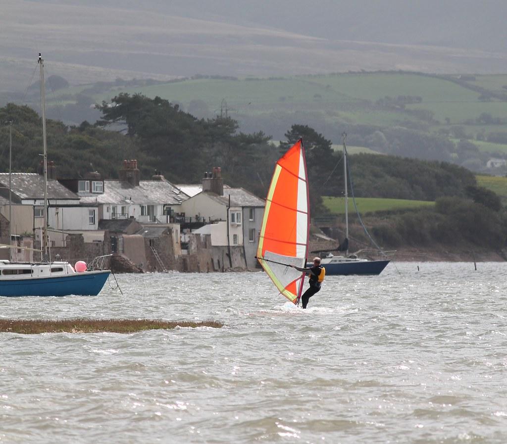 Windsurfing at Ravenglass