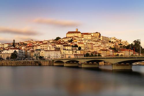 outdoors landscape city sky water river bridge buildings goldenhour long expo longexposure nikon nikond850 tamron1835284 coimbra portugal europe travel gazzda hrvojesimich hrsim