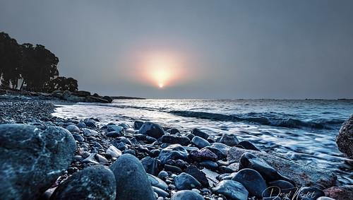 cyprus sunrise blue gold red orange rocks beach water mediterranean waves canon 5dm3 eos