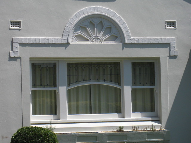 The Window of a Spanish Mission Style Villa in White - East St Kilda