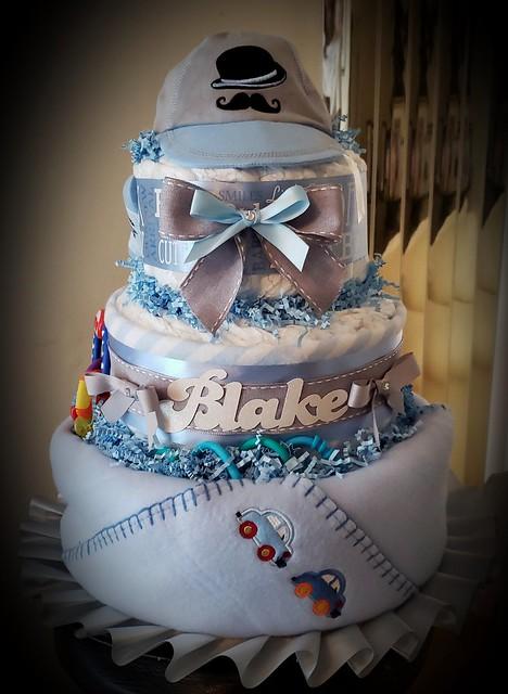 3 tier DiPer Cake