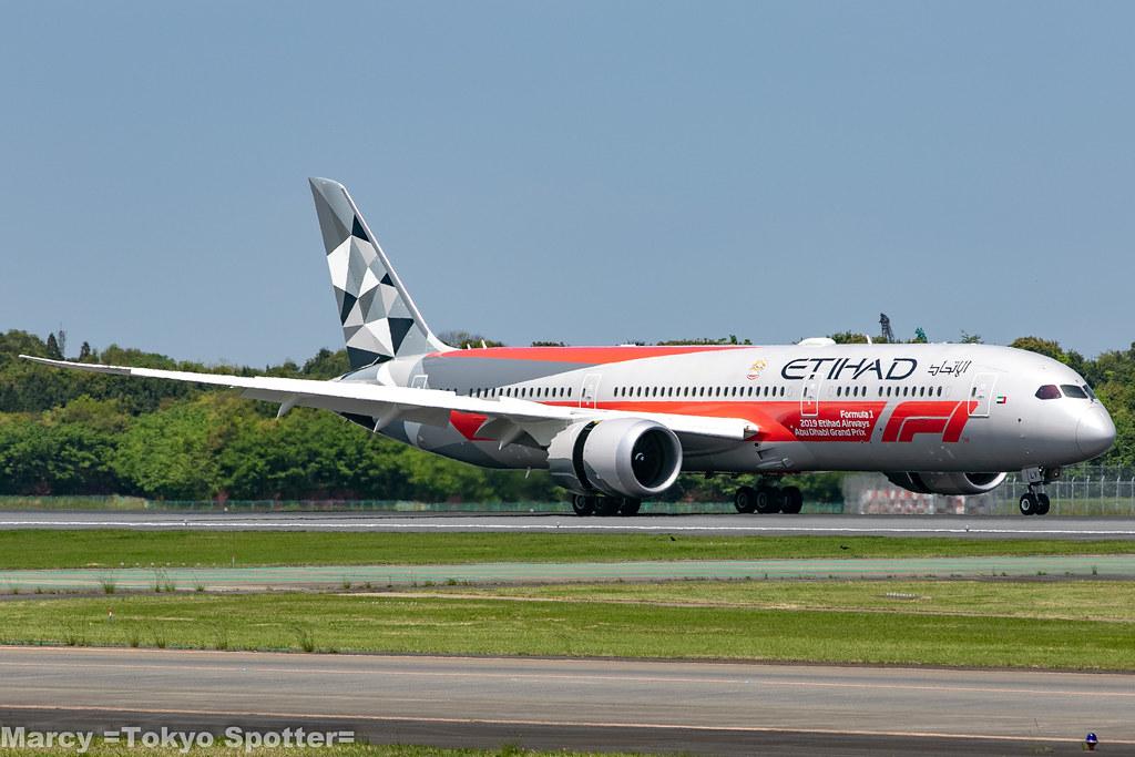 Etihad Airways / B787-9 / A6-BLV / NRT