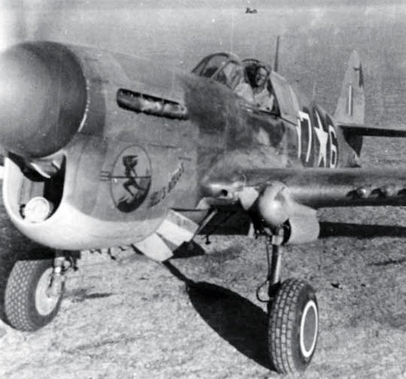 derpanzergraf: A P-40 of the 324 Fighting Group ready for takeoff in Sicily in summer 1943.
