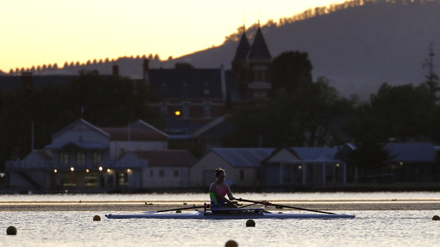 Sculler at Dawn