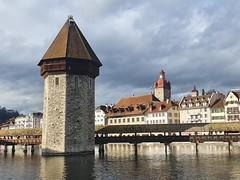 Chapel Bridge (14th cent.) on the Reuss River, Lucerne (4)