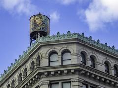 Shepard Fairey watertower, Lower East Side - 1/26/20