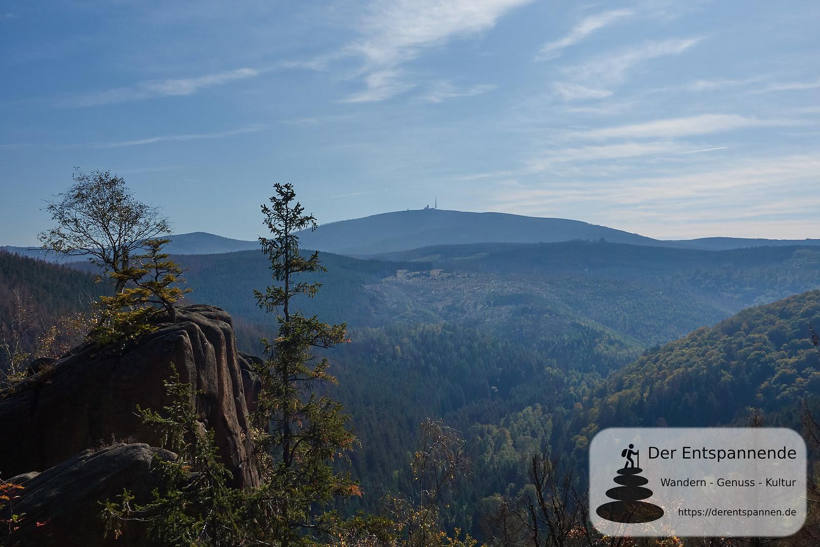 Rabenklippe: Blick auf den Brocken