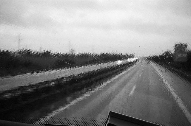 Autobahn i regnvejr