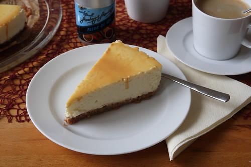 New York Cheesecake mit Caramel Topping (mein Stück)
