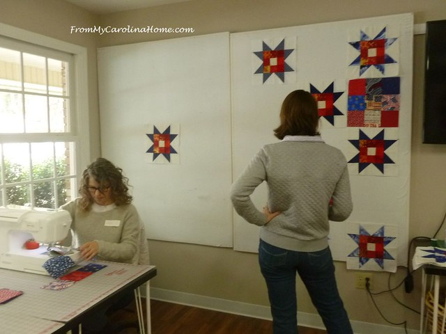Quilt of Valor Sew Day at FromMyCarolinaHome.com
