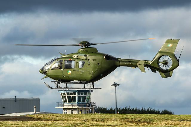 IRISH AIR CORPS EC135 OVER TOWER