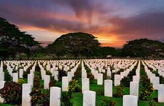 """Night Falls on WWII Cemetary"" Papua New Guinea"