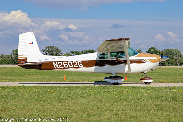 N2602G - 1959 build Cessna 182B Skylane, at Oshkosh during Airventure 2018
