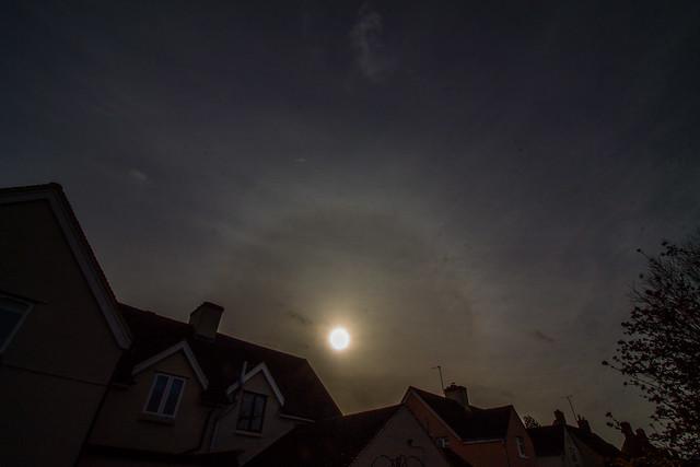 22 Degree Solar Halo 12:35 GMT 02/02/20