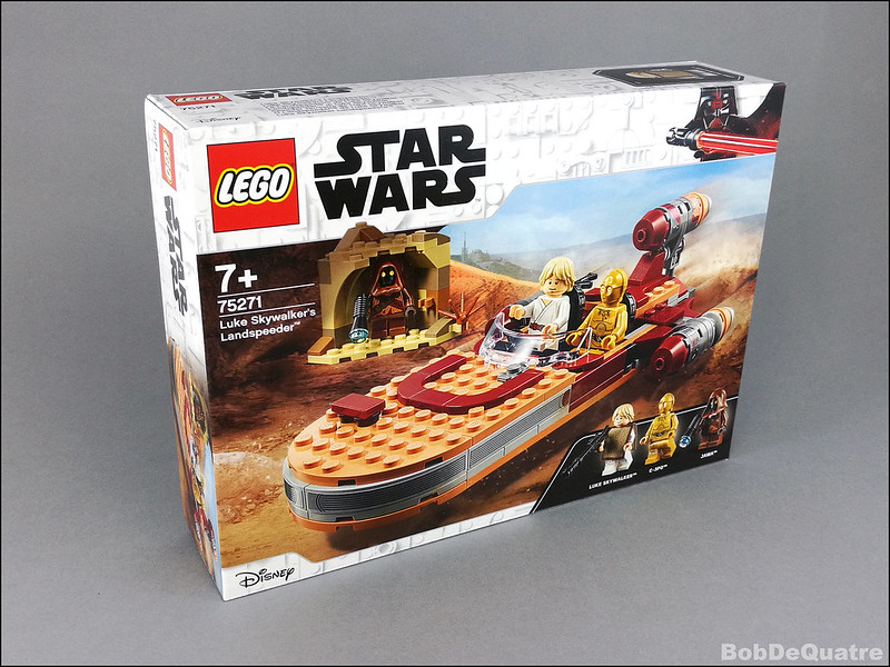 Lego NEW Star Wars Luke Skywalker minifig W// poncho from #75271
