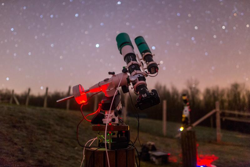A képhez használt asztrofotós rendszer: SkyWatcher Evostar 72/432, Mechanika: SW EQ5 - GOTO, Képrögzítő eszköz: Canon EOS1100D(fs), Vezetőegység: Lacerta M-Gen autoguider, Fókuszreduktor: SW 0.85x