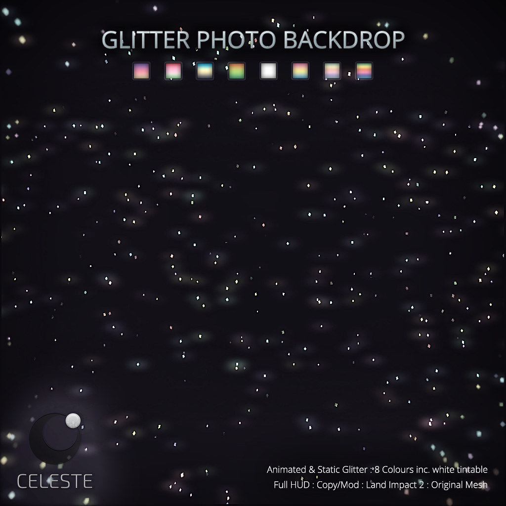 CELESTE – Glitter Photo Backdrop