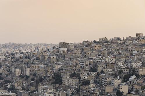 jordan amman ammancitadel middeleast houses columns sun sky capital
