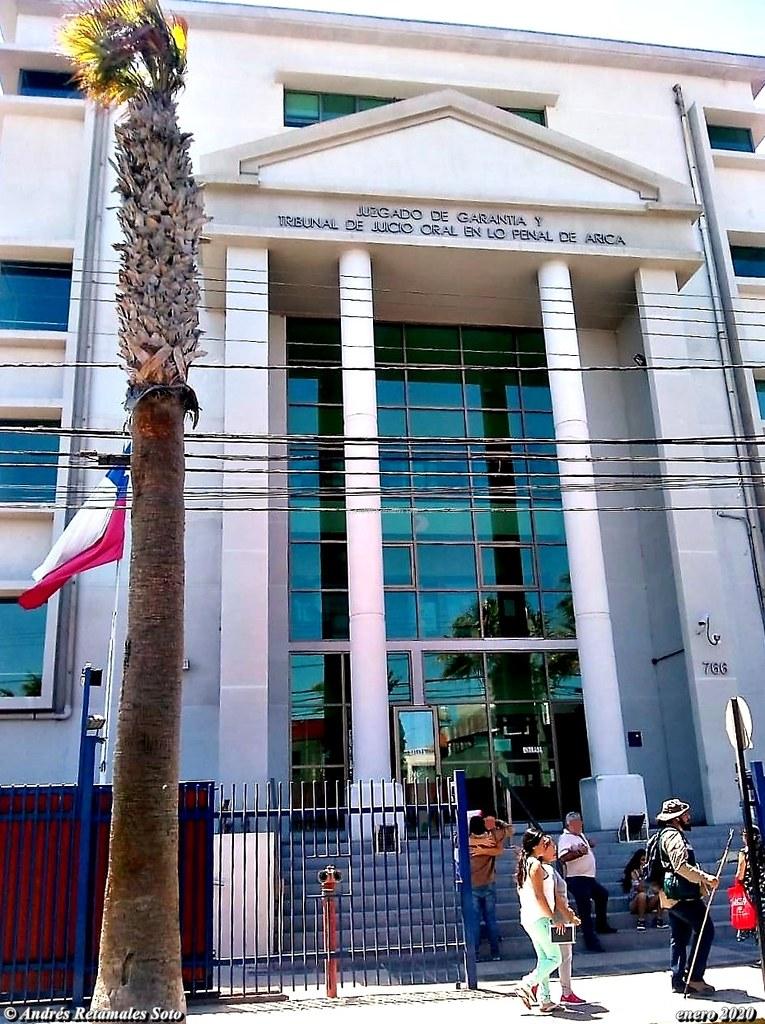 Juzgado de Garantía y Tribunal de Juicio Oral en Lo Penal de Arica, Chile, enero 2020. ⚖️🆑 Andrés Retamales