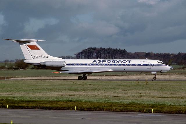 CCCP-65862 Tupolev TU134A-3 EGPK 1987