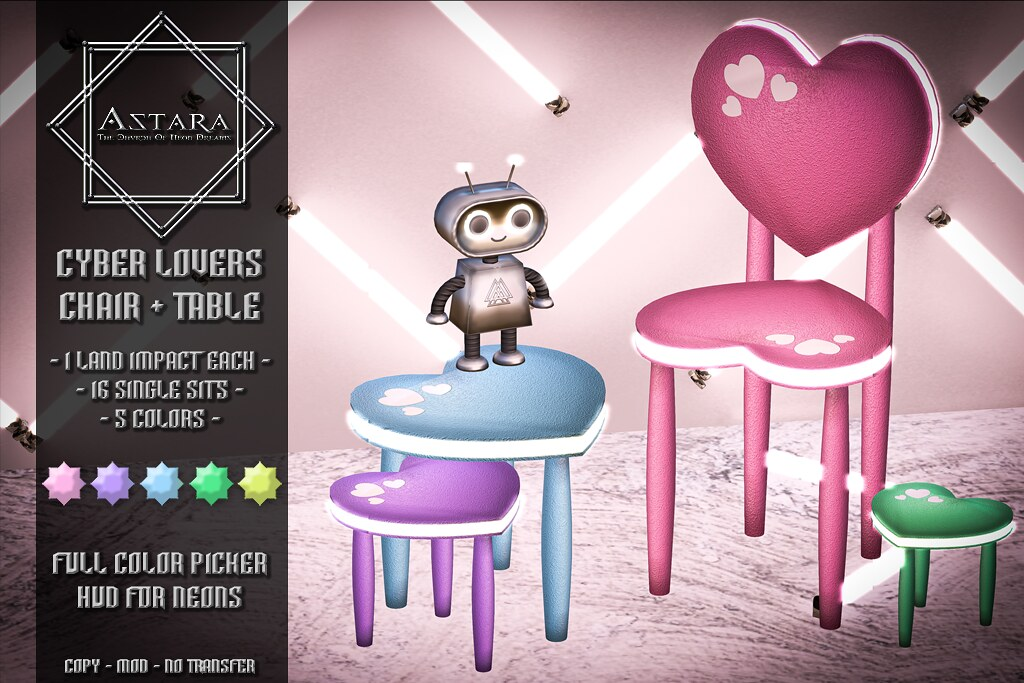 Astara – Cyber Lovers Chair + Table