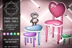 Astara - Cyber Lovers Chair + Table