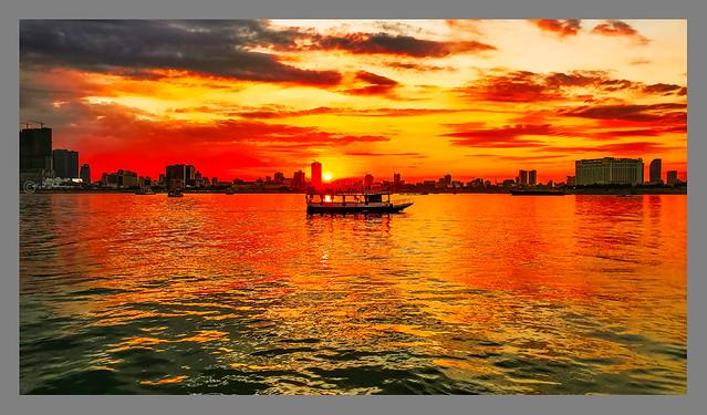 Sunset over Phnom Penh, Cambodia