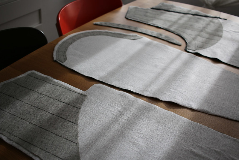 FreeSewing Carlton Coat in progress