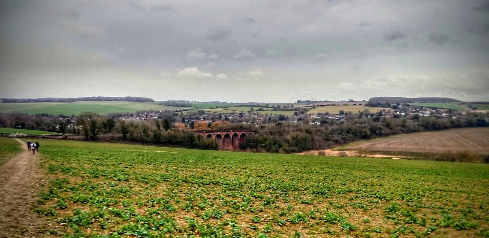 Eynsford - Darent Valley cutting through the North Downs