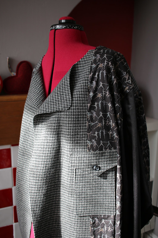 FreeSewing Carlton Coat in progress