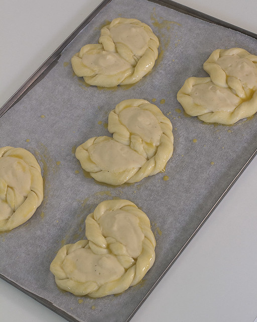 receta lazos de crema