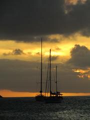 Sunset over Rodney Bay