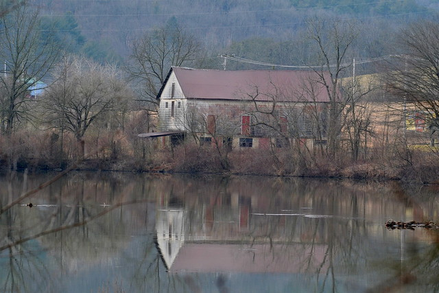Old Barn on the River